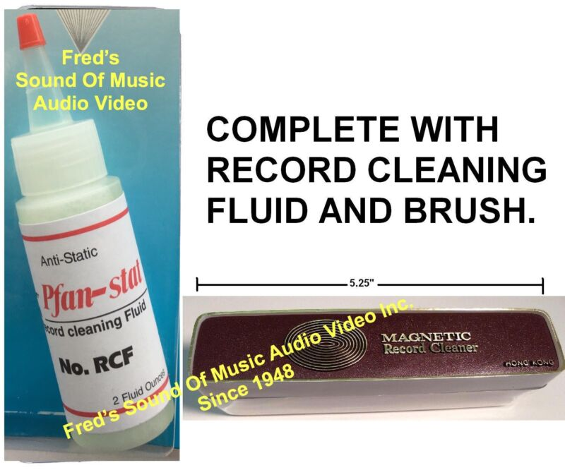 Complete Record Cleaner Brush & Anti-Static Fluid Cleaning Kit Combo Le-Bo Vinyl