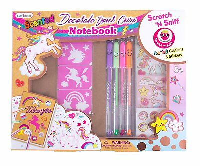 Unicorn Notebook Kit - Girls DIY Journal Set w/ Scented Gel Pens and -