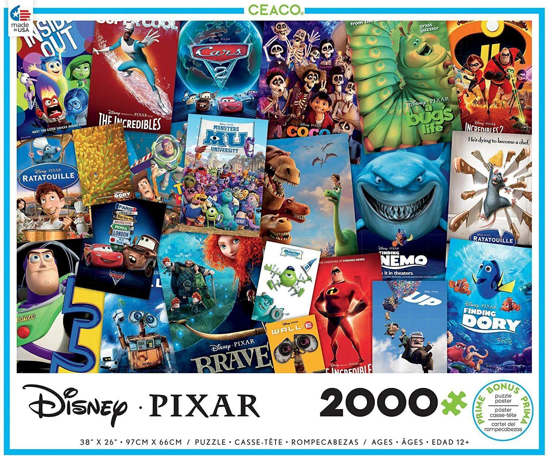 Ceaco Disney/Pixar Movie Posters Jigsaw Puzzle 2000 Pieces N