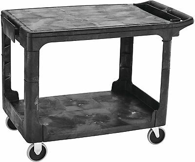 Rubbermaid Commercial Products 2-shelf Utilityservice Cart Fg452589bla
