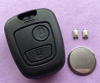 Peugeot 307 2 Button Remote Key Fob Case Shell Repair Refurbishment Kit