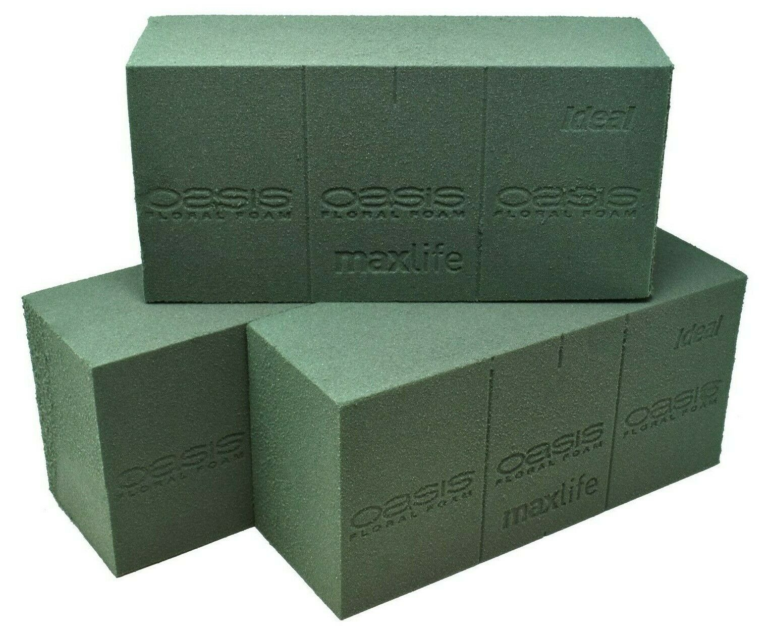 2 x Genuine Smithers Oasis Ideal Floral Foam Wet Brick or Block