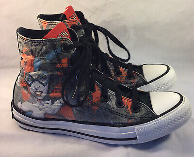Converse Harley Quinn Shoes Chuck Taylor All Star DC Comics Women's Size 6 Rare!