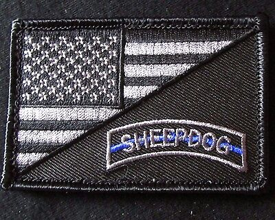 USA AMERICAN FLAG SHEEPDOG TACTICAL US ARMY MORALE BADGE SWAT VELCRO PATCH