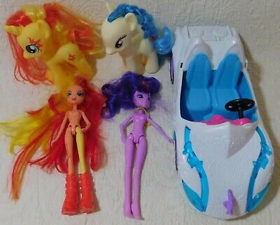 Lot of My Little Pony & EQUESTRIA GIRLS Dolls, Ponies & CAR Sunset Shimmer