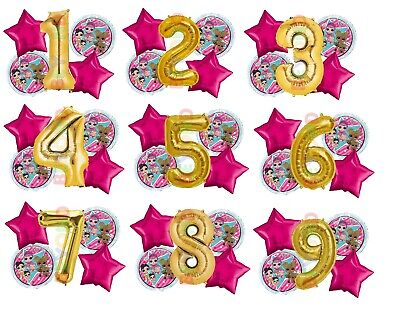 LOL Surprise! Birthday Balloon Bouquet Custom Age Foil Mylar Balloons 5pc](Custom Birthday Balloons)