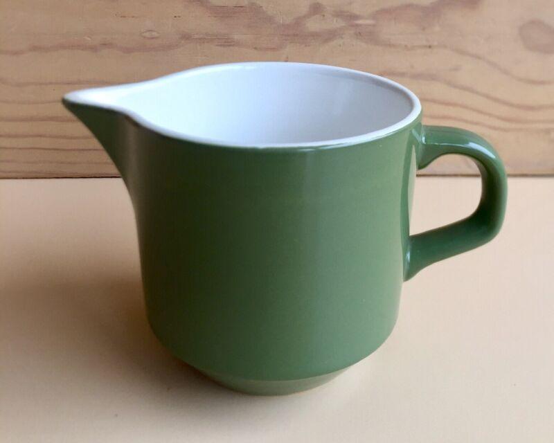 Vintage CROWN LYNN New Zealand Olive GREEN Colour Glaze JUG 250ml