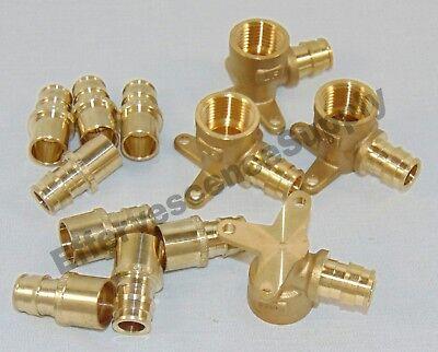 12 Pcs 12 Pex Expansion Brass Adapters 12 Expansion Pex Drop Ear Elbows-