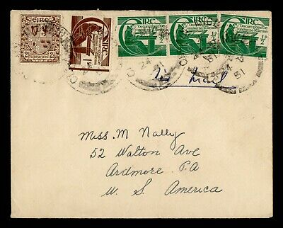 DR WHO 1951 IRELAND TO USA AIRMAIL  g19754