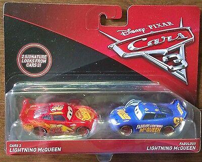Disney Pixar Cars 3 Fabulous Lightning Mcqueen & Cars 3 2 Pack Diecast Mattel ](Lightning Mcqueen Cars 2)