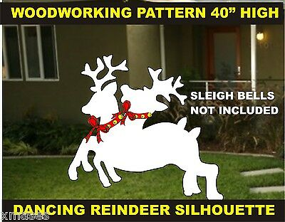 DANCING REINDEER SILHOUETTE  WOODWORKING PATTERN,plan, craft OVER 40