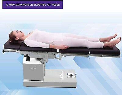 C-arm Compatible Electric Ot Table With Up Down Left Right N Flex Position