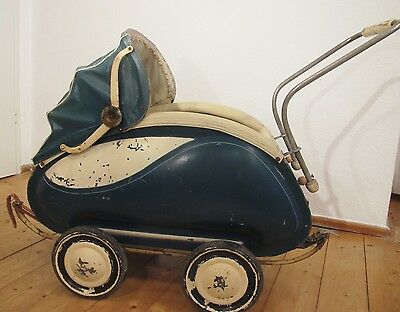 alter  DDR Puppenwagen VEB Zeitzer Kinderwagen Zekiwa ca. 50er Jahre