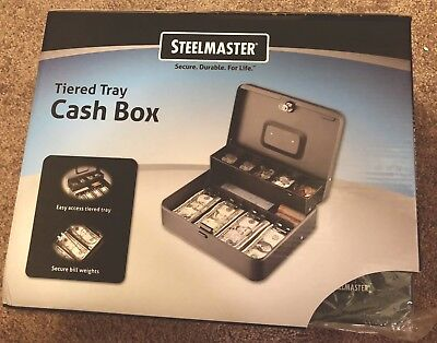 Steelmaster Tiered Tray Cash Box11-1316w X 3-316h X 9-716d 2216194g2