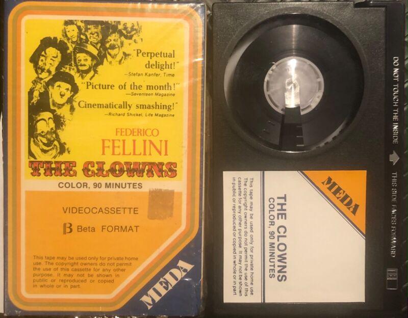 The Clowns BETAMAX! - Federico Fellini - RARE!