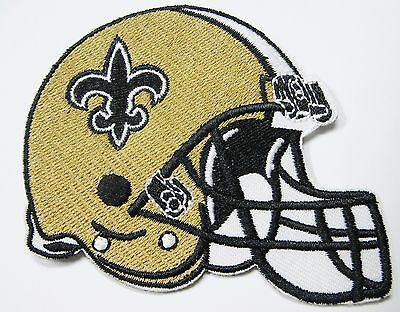 Nfl New Helmets (LOT OF (1) NFL NEW ORLEANS SAINTS EMBROIDERED HELMET PATCH ITEM #)