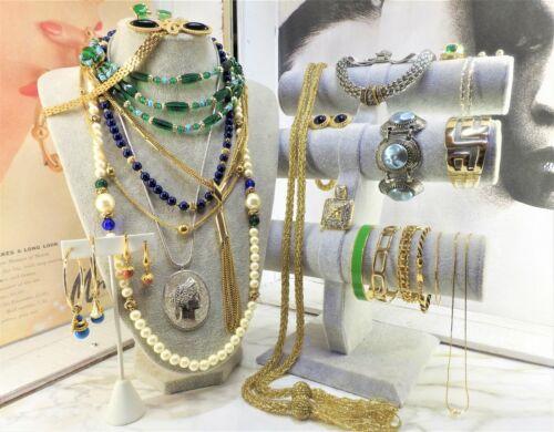 Greek Revival Vintage Jewelry Lot Vogue Trifari Monet Sarah Cov Avon STERLING