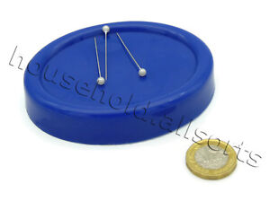 Oval Magnetic Pin Cushion Dressmaking Sewing Needles Paperclips Holder & Pick Up