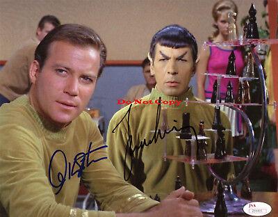 William Shatner And Leonard Nimoy Star Trek Autographed 8X10 Rp Photo