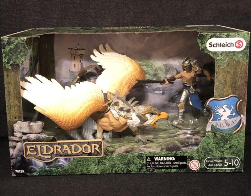 Schleich Eldrador 70129 Griffin Knight Warrior with Griffin HTF NEW IN BOX