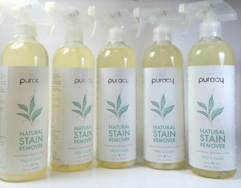 New, Puracy Natural Stain Remover, Free & Clear, 25 fl.OZ With Spray