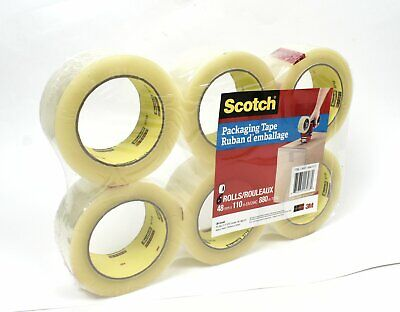 3m Scotch Moving Storage Heaving Duty Packing Tape - 6 Rolls 1.88 X 54.6 Yds