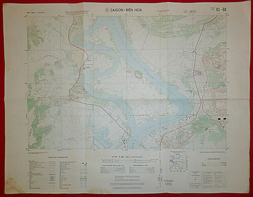 MAP - 83-68 - BIEN HOA AIRBASE - 1970 - SAIGON - DONG NAI RIVER - Vietnam War