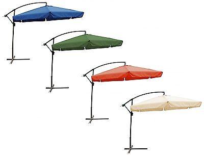 Sonnenschirm mit Fuß 300cm Ampelschirm Balkonschirm Terrassenschirm Schirm Sonne