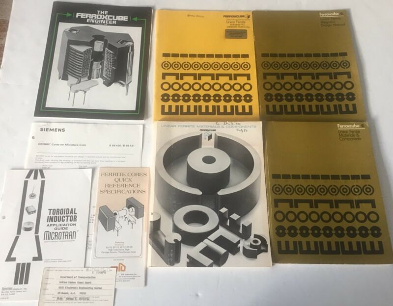 4 Ferroxcube Manual & Booklets Linear Ferrite materials components magnetic 1st