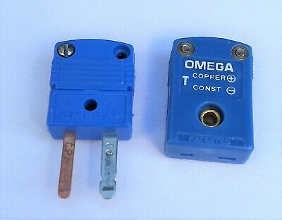 Omega Type-t Thermocouple Flat-pin Mini-plug Male Or Female Smp-t-m Or Smp-t-f