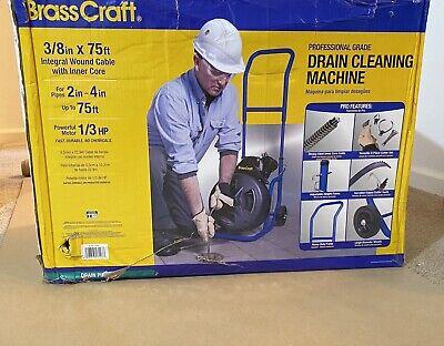 Auger 13hp 38 X 75 Professional Grade Brasscraft Drain Cleaning Machine