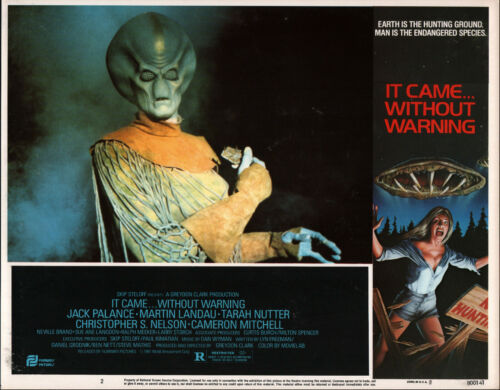 IT CAME WITHOUT WARNING original 1980 lobby card SCI-FI/ALIEN 11x14 movie poster