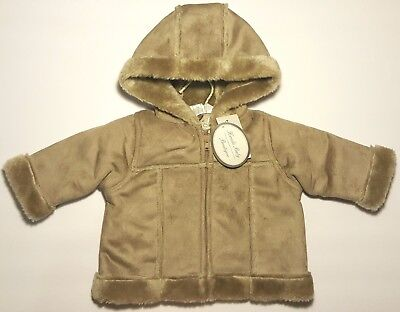 que Infant Girl/Boy Faux Fur Winter Hooded Coat (Girl, Boy, Mädchen Boutique)