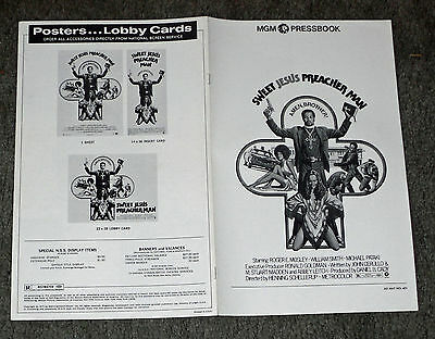 SWEET JESUS PREACHERMAN orig BLAXPLOITATION pressbook ROGER MOSLEY/WILLIAM SMITH