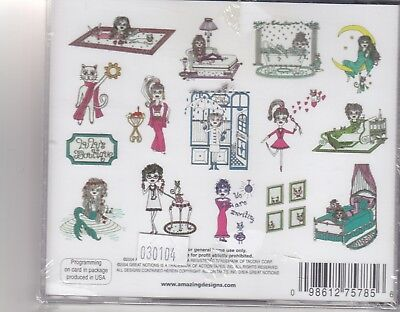 Amazing Designs Lulu & Mew by Sher Brother Designs Embroidery Card