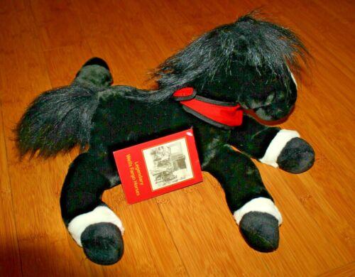 """NWT Wells Fargo Horse Pony King Plush 13"""" White & Black Toys R Us - 2003"""