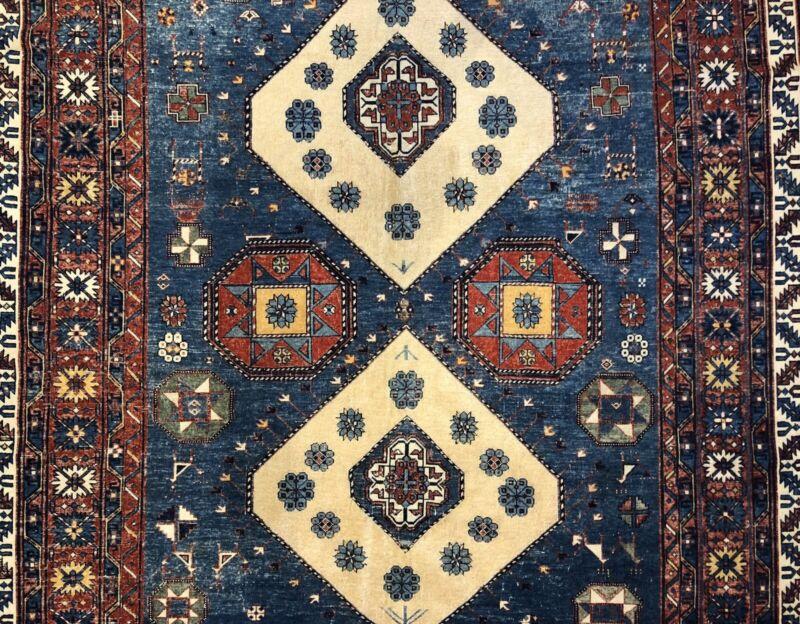 Special Shirvan - 1900s Antique Caucasian Rug - Tribal Carpet - 6 X 8.10 Ft.