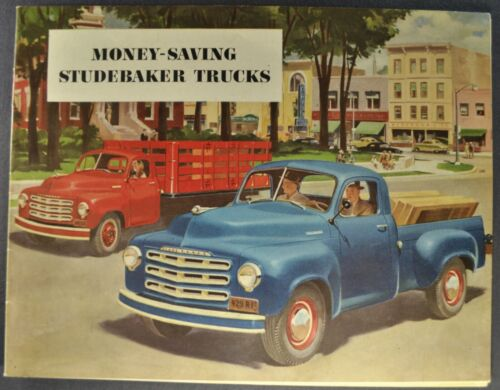 1950-1951 Studebaker Truck Brochure Pickup Stake Panel Dump Excellent Original
