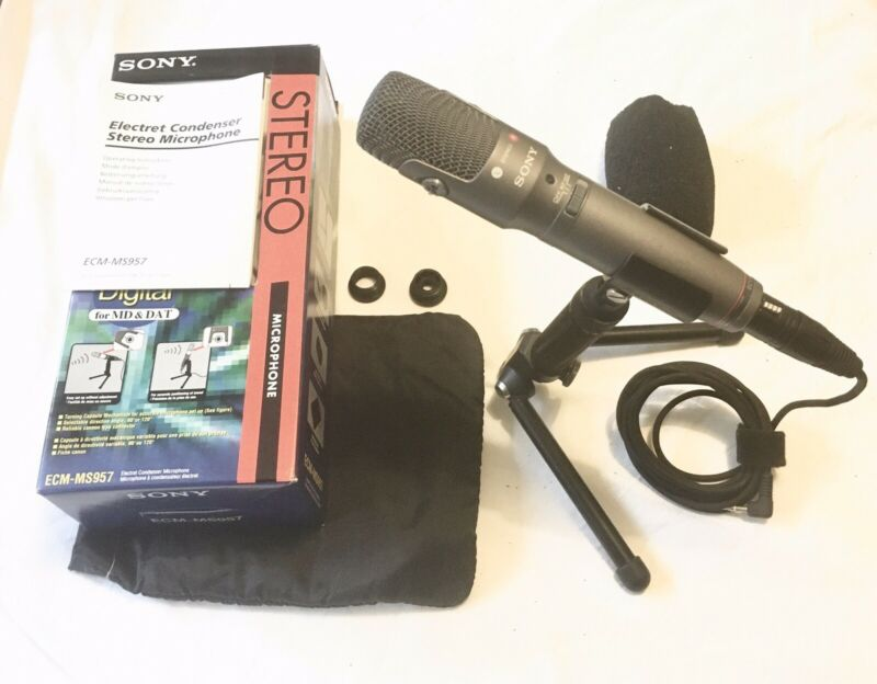 Sony ECM-MS957 Stereo Microphone Boxed In VGC (M/S Electret Condenser)