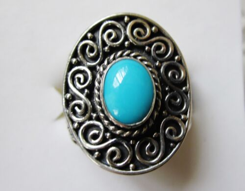 Sleeping Beauty Turquoise Ring in 925 Sterling Silver size 7 --- 1.31cts, 7.5g