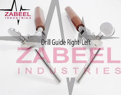 Drill Guide Right Left 2 Pcs Set Veterinary Orthopedic Instrument Zabeelind