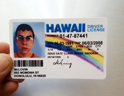 Mclovin Id From Movie Superbad Fogels Fake Joke