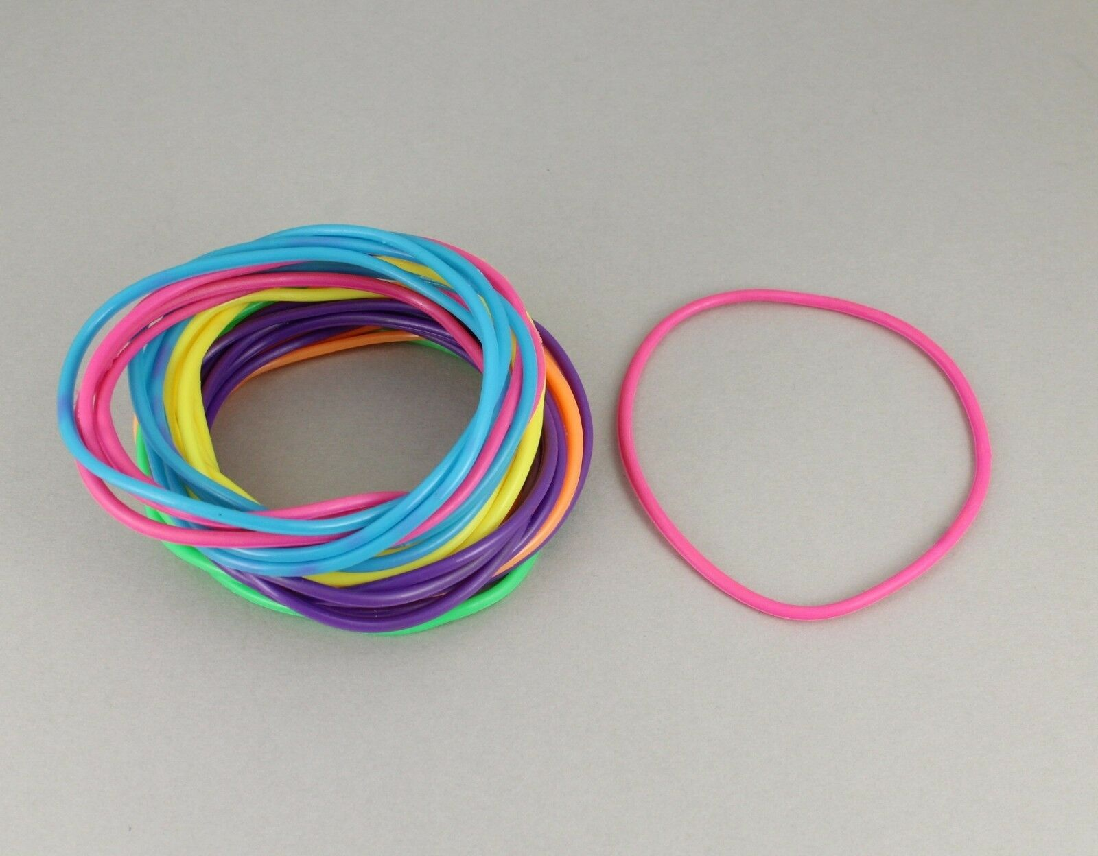 Multi Color set pack lot of 30 jelly rubber gummy bangle
