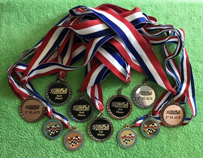 NASA (National Auto Sport Association) Award Medals (11) in total! & FREE GIFT!