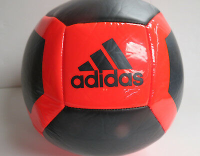 (Adidas Performance Glider II Soccer Ball, Core Black/Solar Red, Size 4)