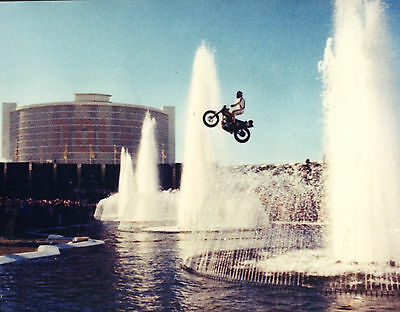 Evel Knievel Color 8x10 Photo Caesars Palace Jump 3