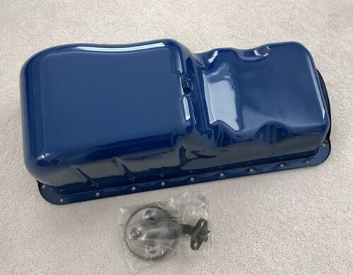 New Boss 429 Mustang stock steel oil pan, oil pickup & correct bolts Show paint!