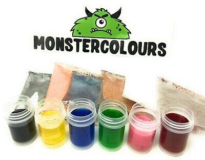 Pulver Lebensmittel Farbe (Lebensmittelfarbe Speisefarbe wasserlöslich Pulver 6x 10ml (50ml = 7,83€))