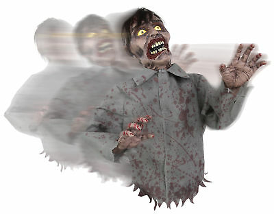 Bump and Go Zombie Halloween Animated Decor Haunted House Poseable Arms SOUNDS! - Zombie Halloween Sounds