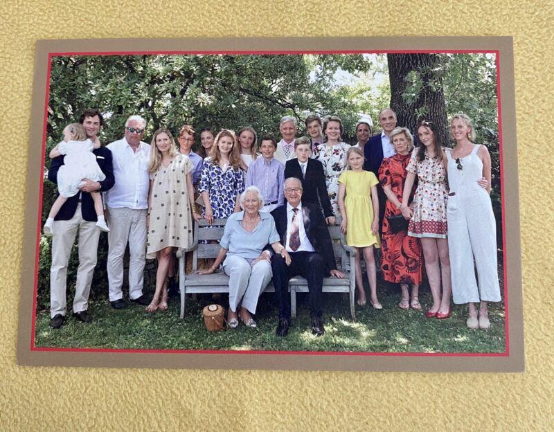 TM King Albert II & Queen Paola Of Belgium 2020 Christmas Card